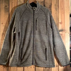 Gently Used Grey Swiss Tech Guys Front Zip Sweater